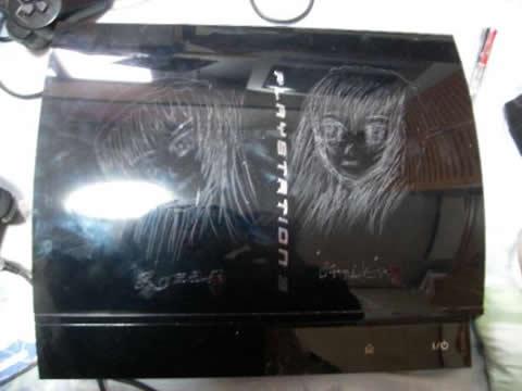 PS3にローゼンメイデンの彫り物