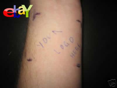 入墨 タトゥー ebay 出品 広告塔