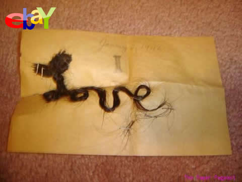 バレンタイン 髪の毛 イーベイ ebay 手紙
