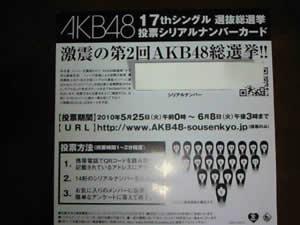 送料無料 AKB48 ポニーテールとシュシュ 選抜総選挙投票券 10枚