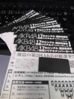 AKB48「ポニーテールとシュシュ」選抜総選挙投票券40枚セット