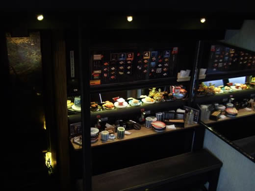〓〓〓ドールハウス ミニチュア 食品サンプル 回転寿司 可動式