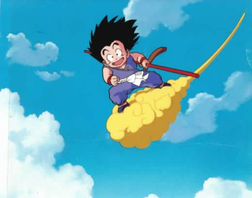 ★ドラゴンボール セル画★筋斗雲に乗る少年悟空★